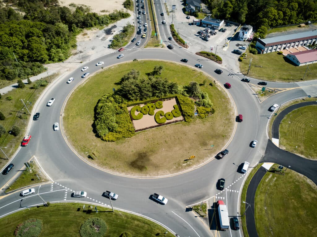 Cape Cod Rotary aerial view