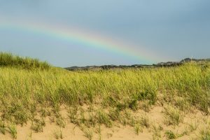 Rainbow at the beach