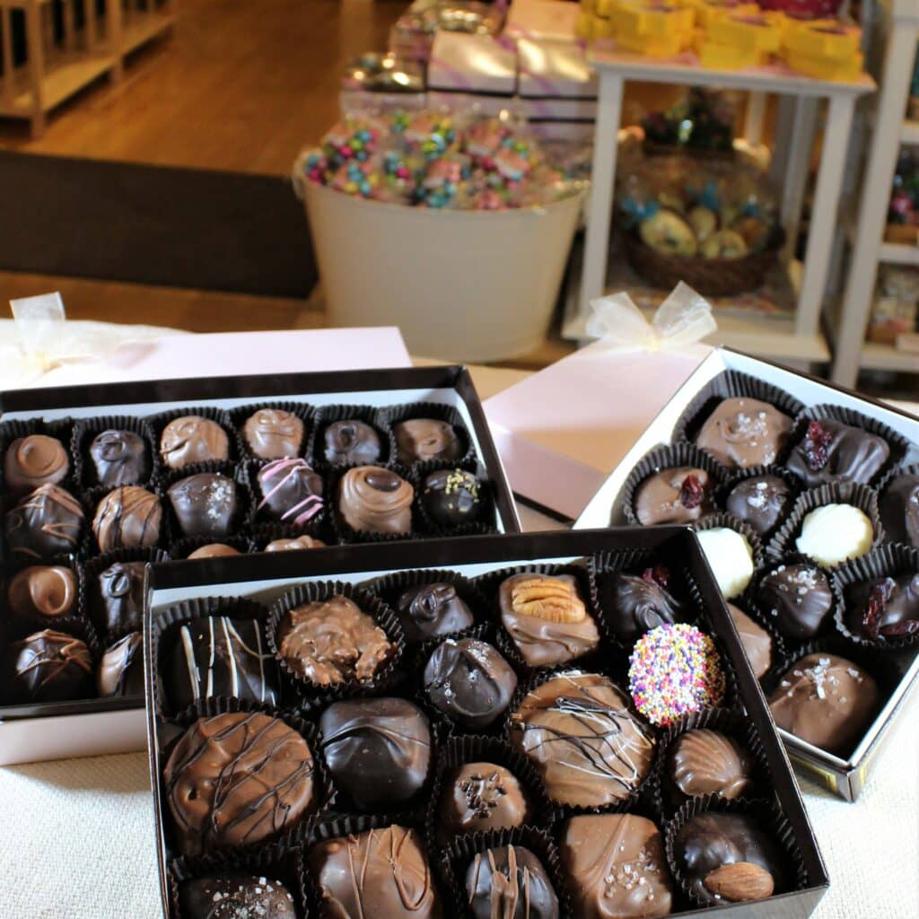Chatham Candy Manor Boxes of chocolates